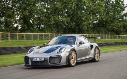 Porsche 911 GT2 RS: debutto a Goodwood