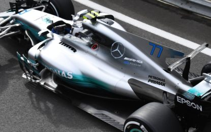 #BritishGP: FP1 alle Mercedes e debutta lo shield