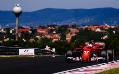 Ungheria: prima fila tutta Ferrari, davanti alle Mercedes