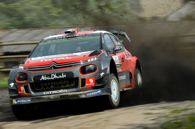 Rally Polonia: le CITROËN C3 WRC in piena bagarre