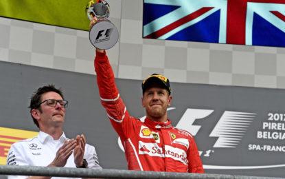 Belgio: Ferrari oltre le previsioni, Vettel sempre leader