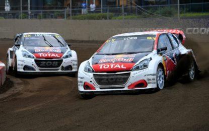 Rallycross: 3° podio consecutivo per Loeb e Peugeot in Canada