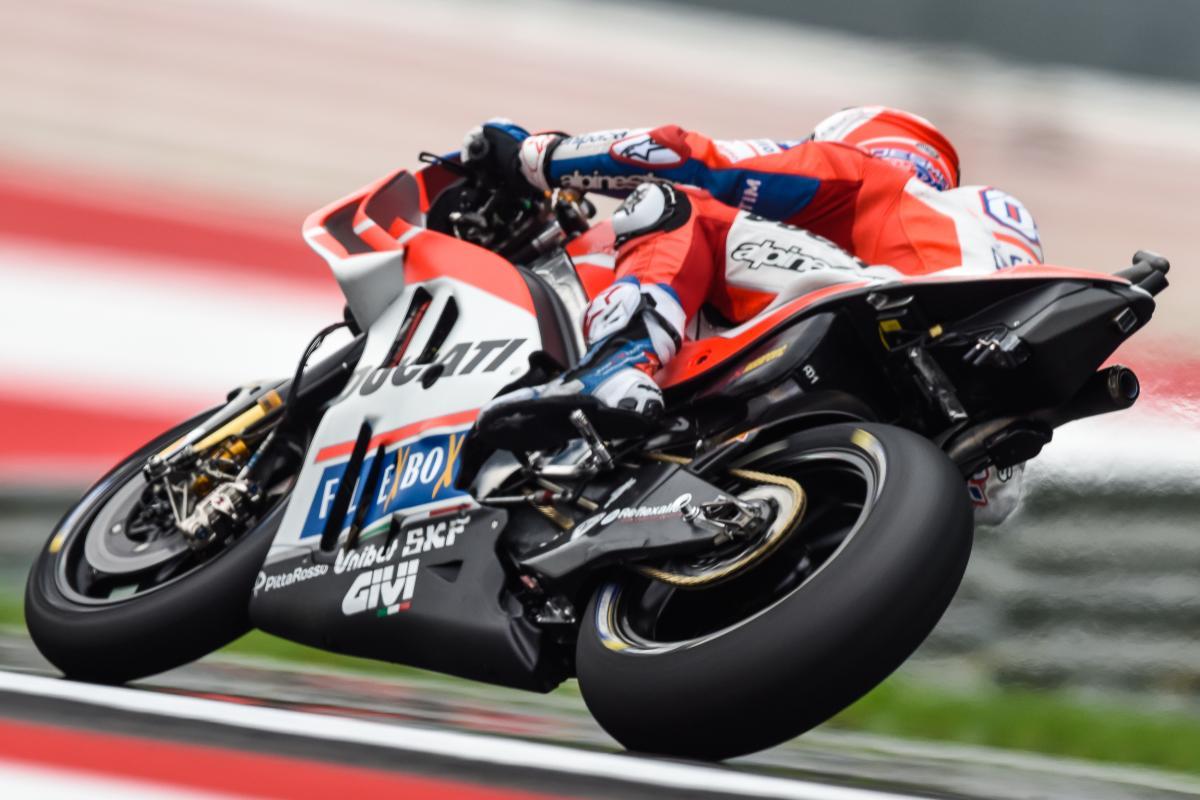 MotoGP: Dovizioso più veloce nel venerdì in Austria