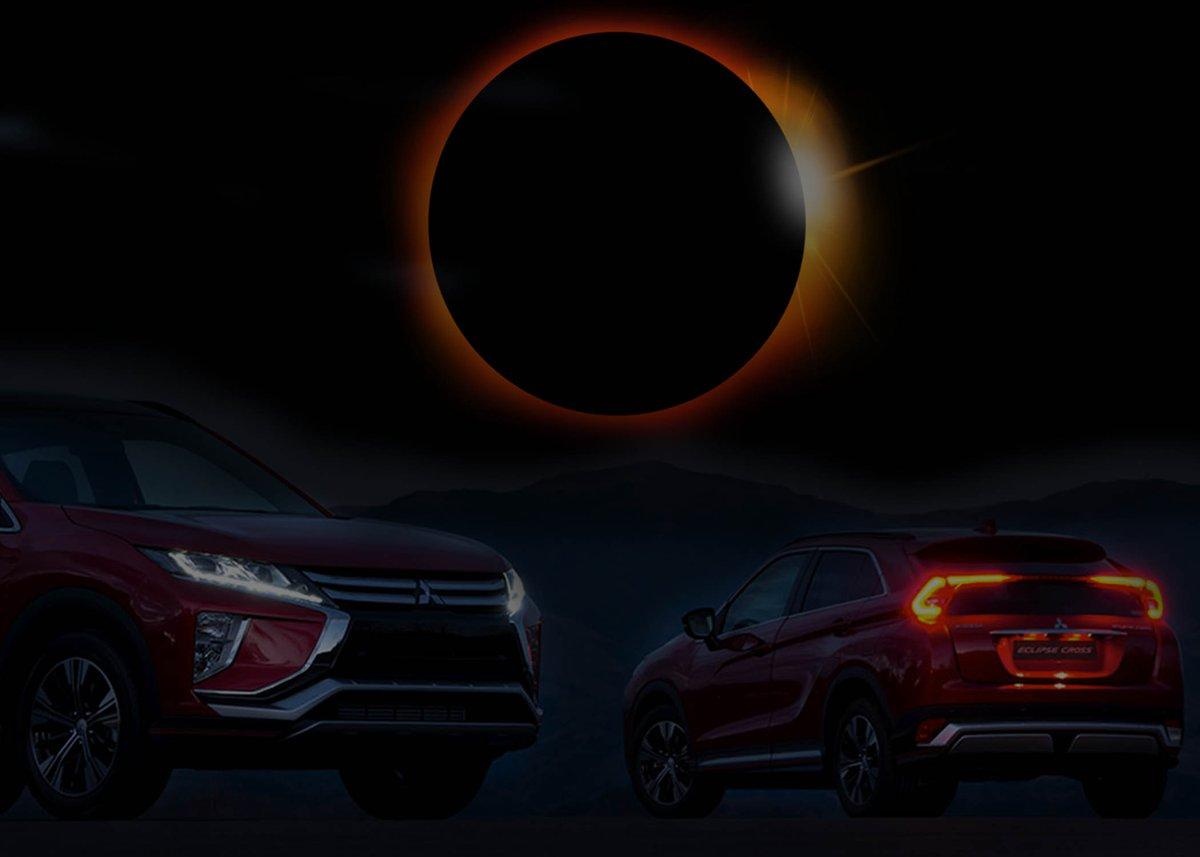 Mitsubishi Eclipse Cross si svela durante l'eclissi