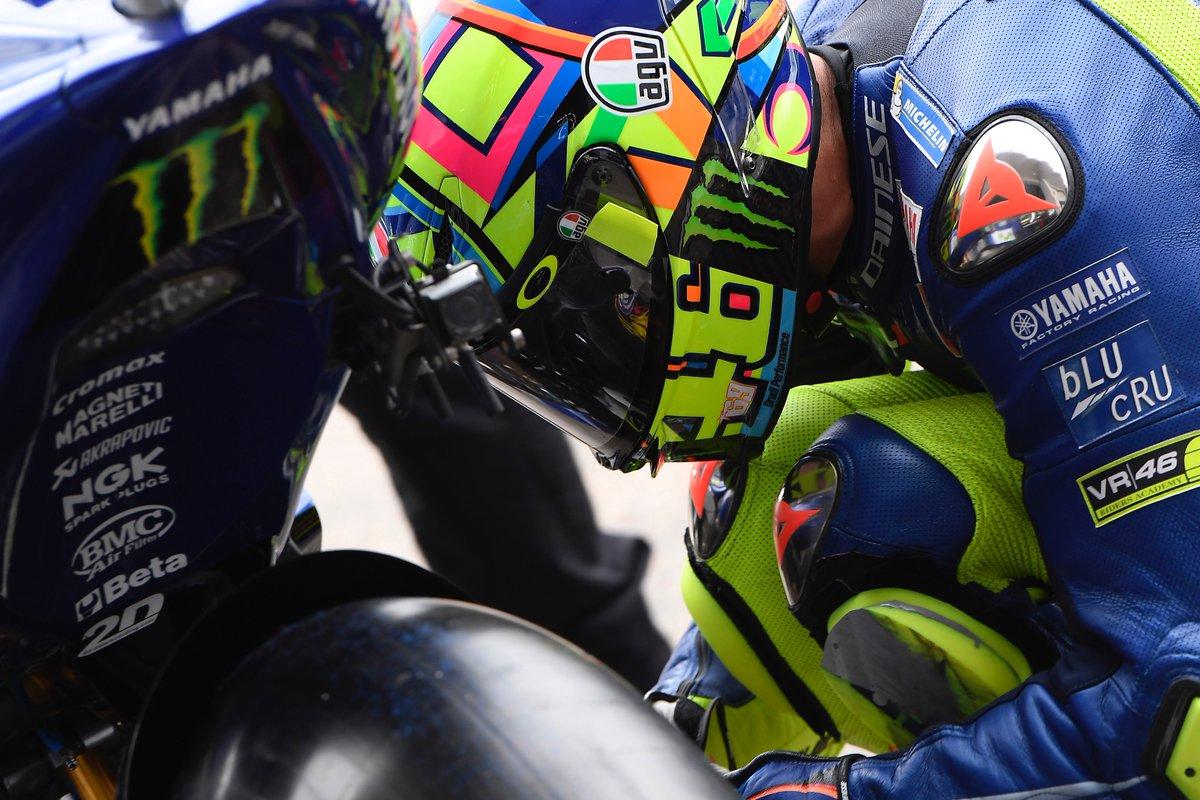 Primi giri in moto a Misano per Valentino Rossi