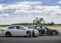 Sfida di Triathlon con la Jaguar XF