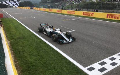Hamilton, Vettel e Ricciardo sul podio di Spa