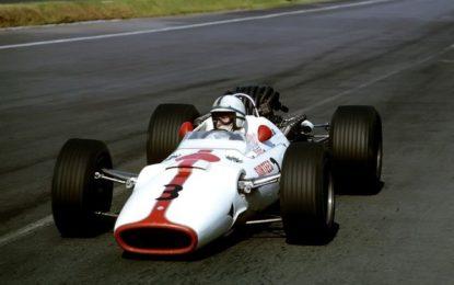 La Honda RA300 domenica in pista a Monza