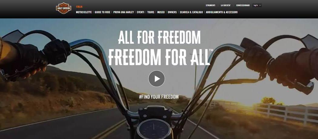 Harley-Davidson: nuovo claim nel segno della libertà