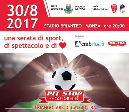 Tutti al Pit Stop alla Solidarietà a Monza il 30 agosto