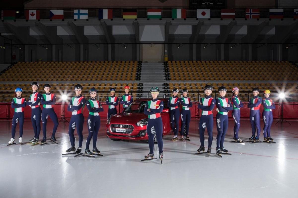 Suzuki Swift con la Nazionale di Short Track