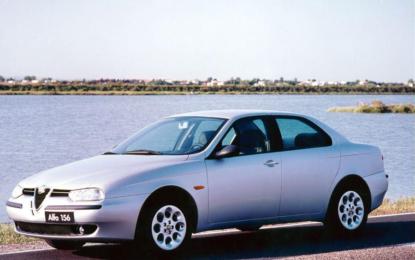 L'Alfa 156 con Walter de Silva e Stefano d'Amico