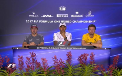 Singapore: la conferenza stampa FIA dei piloti