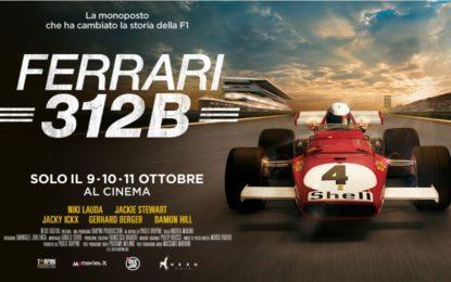 Ferrari 312B: dal 9 all'11 ottobre al cinema in 4K