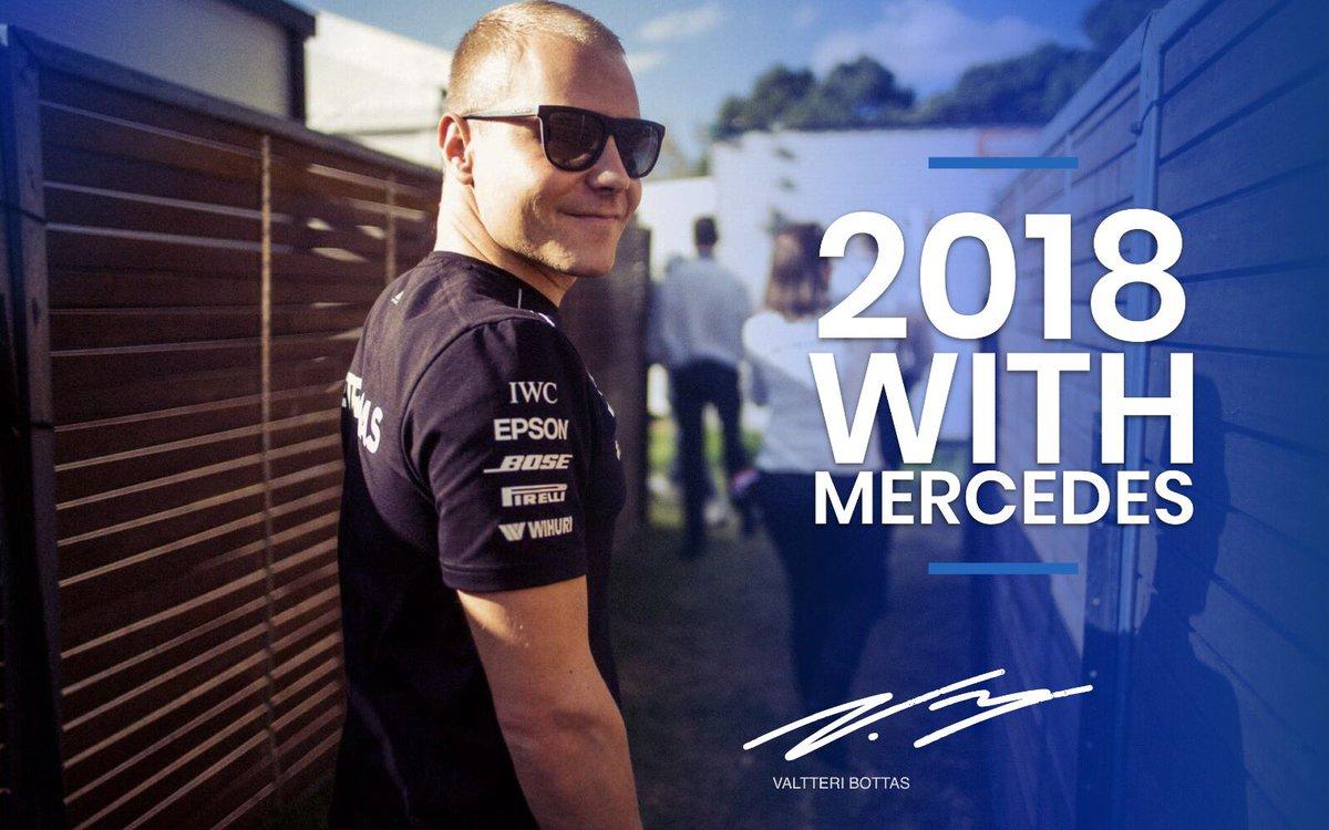 Mercedes e Bottas insieme anche nel 2018
