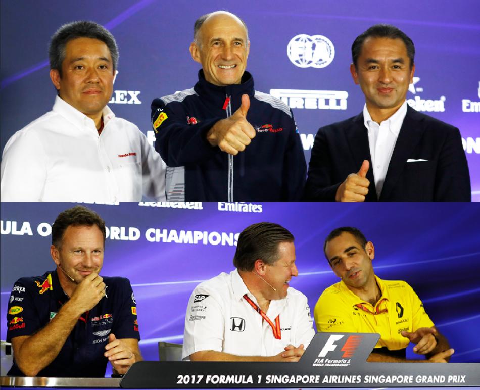 Singapore: la conferenza stampa dei team