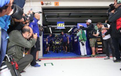 Aragon: Valentino Rossi gira, senza troppo dolore