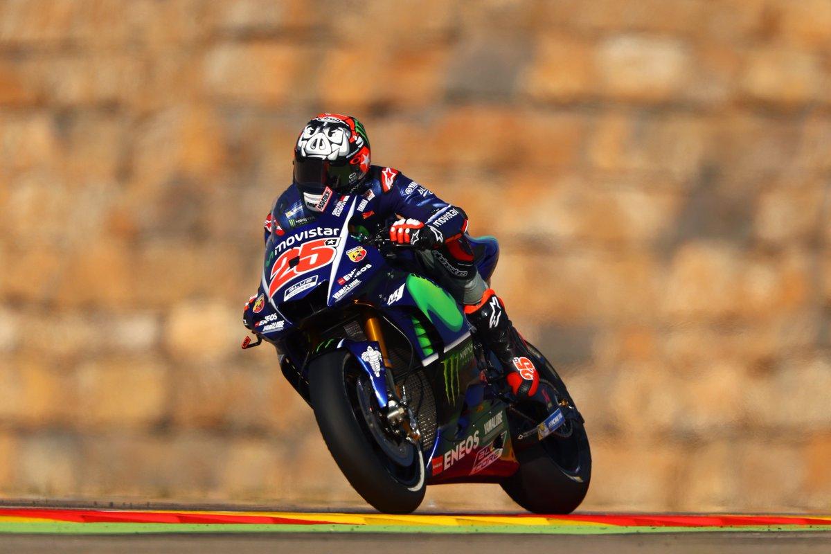 MotoGP: Viñales in pole ad Aragon, Rossi in prima fila