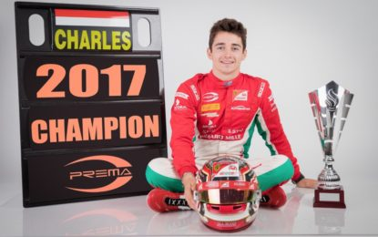 Il pilota FDA Charles Leclerc campione Formula 2 2017