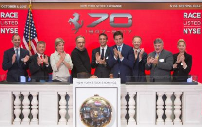 I 70 anni della Ferrari a Wall Street
