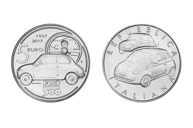 Una moneta in argento per celebrare la Fiat 500
