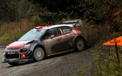 Gran Bretagna: primi giri nel fango per le Citroën C3 WRC