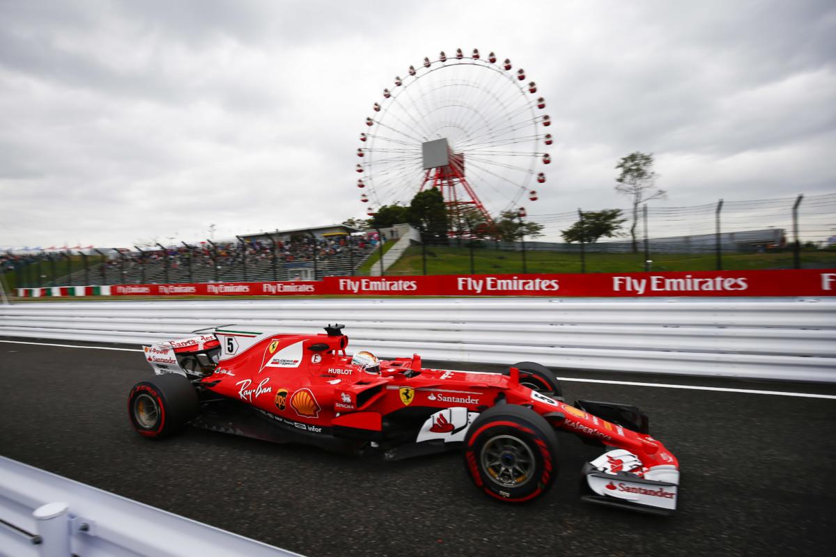Giappone: nelle libere Vettel più veloce sull'asciutto