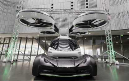 Pop.Up: l'auto volante in esposizione al MAUTO