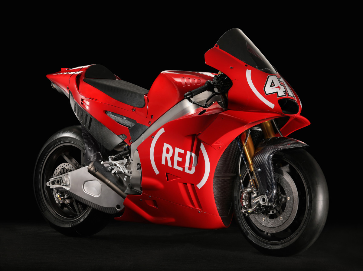 A Valencia Aprilia RS-GP in livrea (RED)