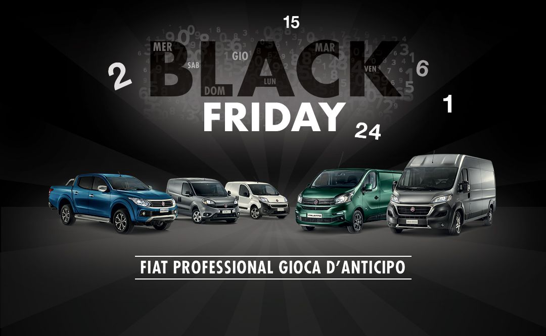 Fiat Professional anticipa e prolunga il Black Friday