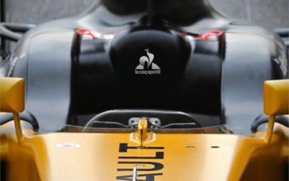 Le coq sportif partner Renault Sport Formula One Team