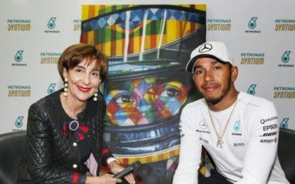 Brasile: Lewis Hamilton incontra Viviane Senna