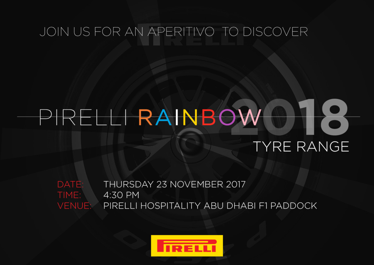 Pirelli pronta a svelare la gamma Rainbow