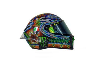 Il casco di Valentino Rossi per i test in Malesia