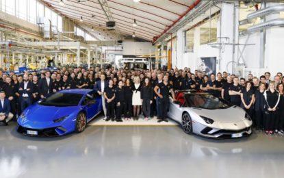 Record produttivo per Lamborghini