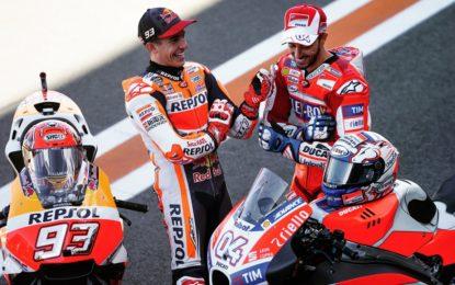 MotoGP: il venerdì di Dovizioso e Marquez a Valencia