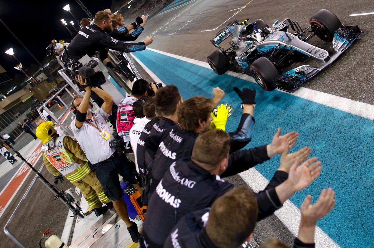 Abu Dhabi: vince Bottas davanti a Hamilton e Vettel