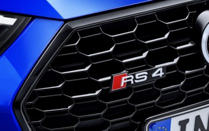 Nuova Audi RS 4 Avant: inizio prevendita