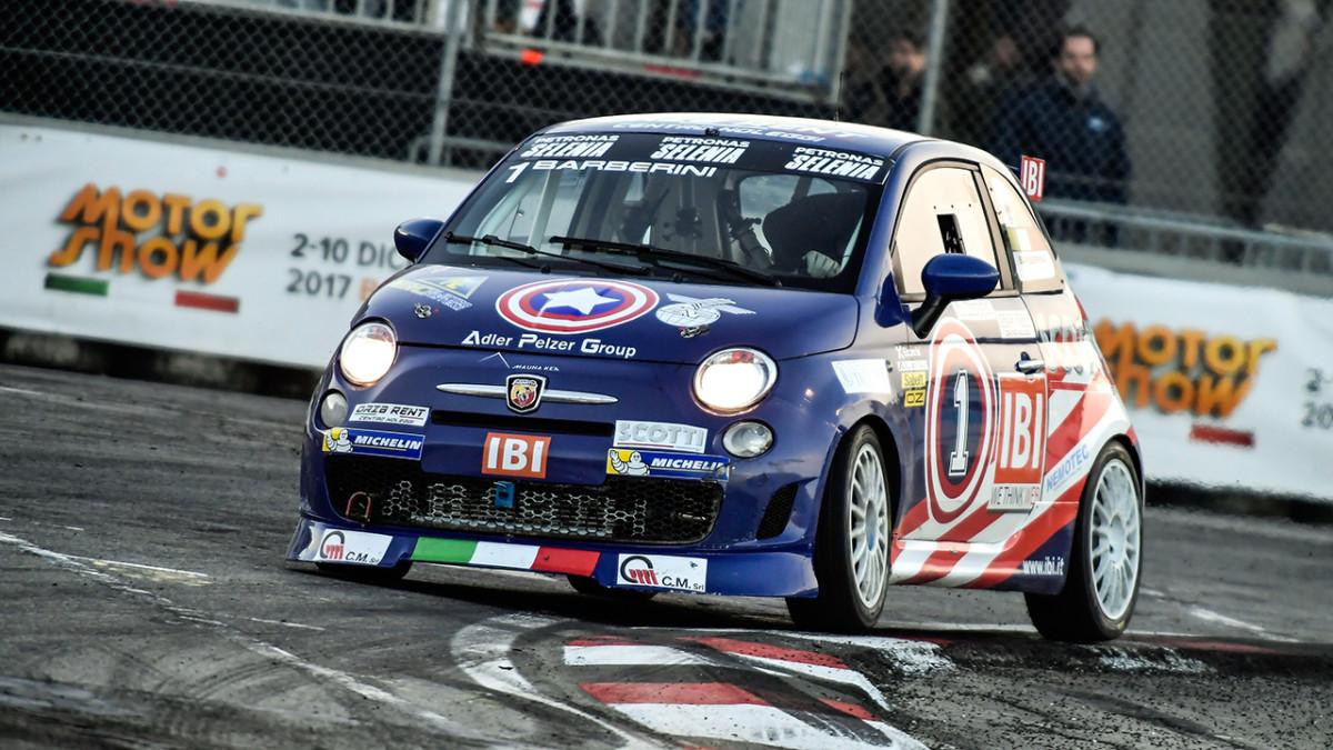 Motor Show: vince Barberini con Abarth 695 Assetto Corse Evoluzione