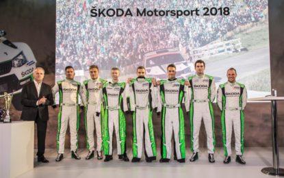 Record di successi per ŠKODA Motorsport nel 2017