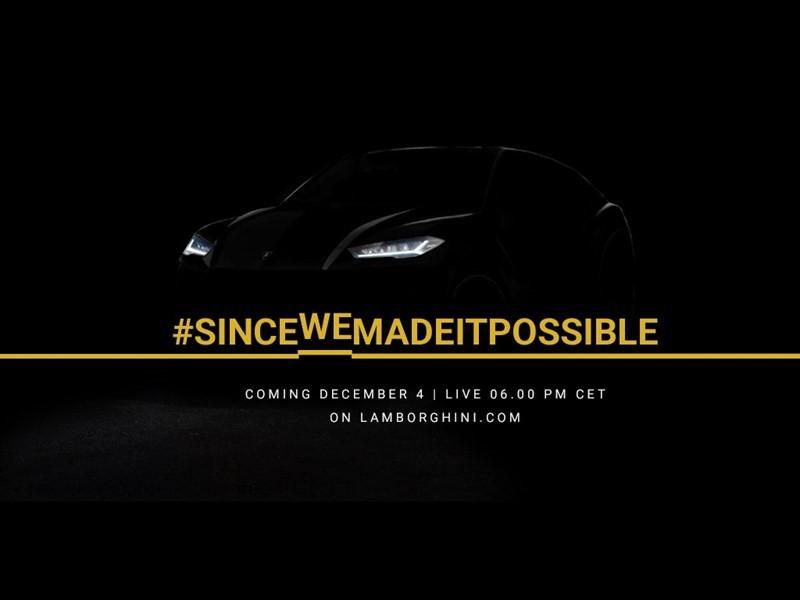 Lamborghini Urus: il design in attesa del reveal