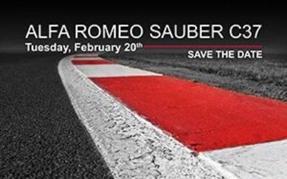 Alfa Romeo Sauber: presentazione il 20 febbraio