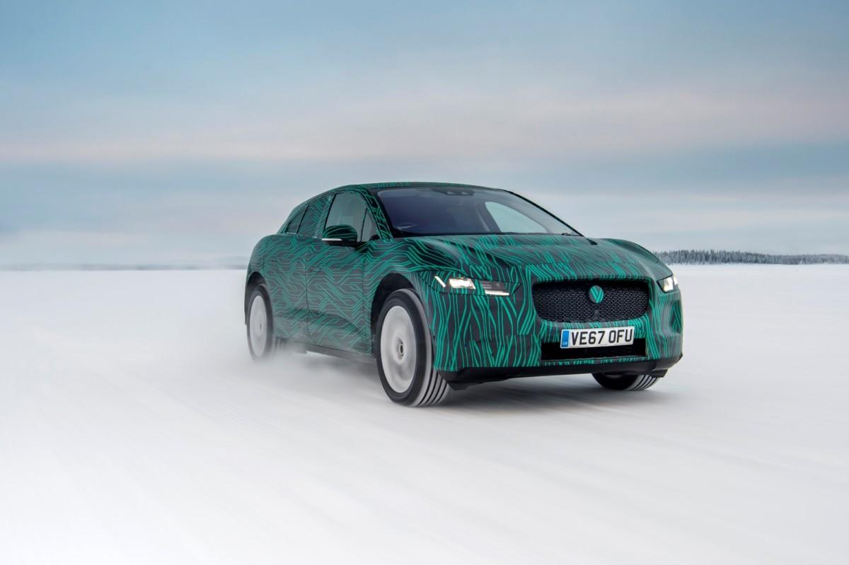 Jaguar I-PACE testata in Svezia a -40°C