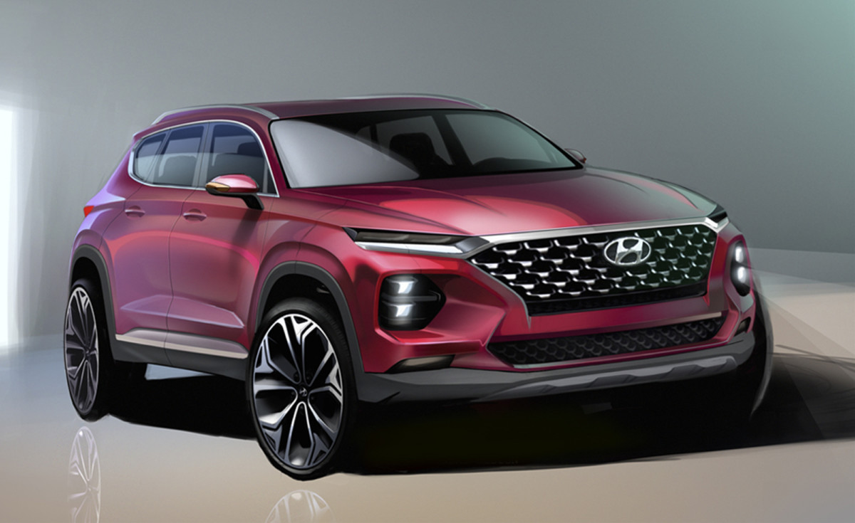 Hyundai Santa Fe: primo rendering