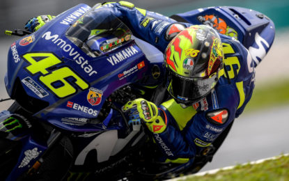 Rossi a Sepang con AGV PISTA GP R 20 YEARS