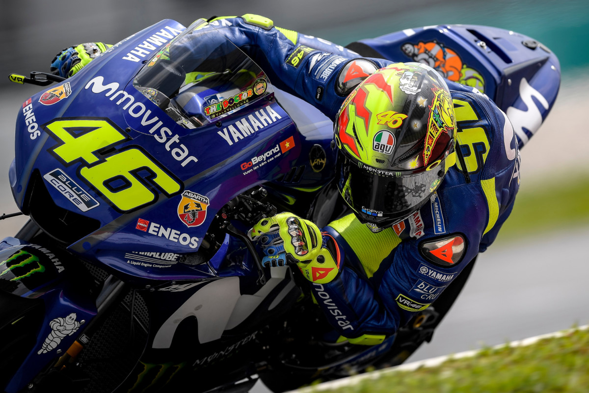 Rossi a Sepang con AGV PISTA GP R 20 YEARS