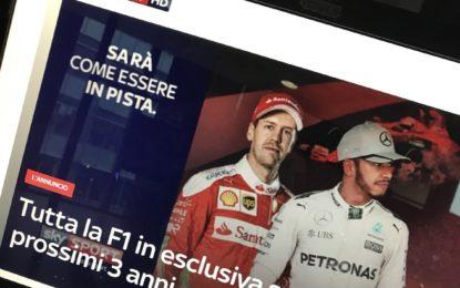 Ufficiale: la Formula 1 2018 è solo su Sky