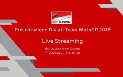 Live: presentazione Ducati Team MotoGP 2018
