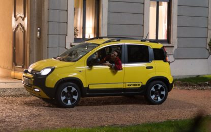 Fabio Rovazzi a bordo di Fiat Panda City Cross