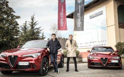 Leclerc ed Ericsson a lezione di Alfa a Balocco